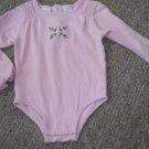 KOALA KIDS Pink Long Sleeved Snowflake Bodysuit Girls Size 4 (48 months)