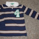 CARTER'S Navy Blue Striped Long Sleeved Rugby Top Boys Size 4T