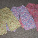 Lot of Handmade Flannel Sleep pants Fits Girls 3T 4T