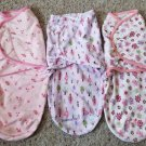 SUMMER Lot of Infant Girls Swaddles SM MED 7-14 pounds 0-3 months SWADDLE ME