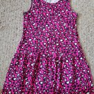 FADED GLORY Pink Heart Print Sleeveless Dress Girls Size 10-12