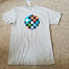 NWT Gray Short Sleeved QUIKSILVER Speed Check Top Boys Size 12-14 XL