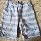 CRAZY 8 Gray Striped Longer Length Shorts Boys Size 12