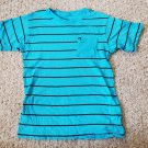 QUIKSILVER Blue Striped Short Sleeved Top Boys Size 10