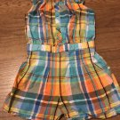 GYMBOREE Plaid Sleeveless Short Romper Girls Size 4T