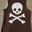 CRAZY 8 Brown Sleeveless Skull Boys Top Size 7-8