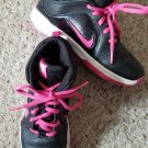 NIKE Black and Pink Hi Top Sneakers Youth Girls Size 1.5