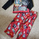 Red and Black LEGO STAR WARS Long Sleeved Pajamas Boys Size 4