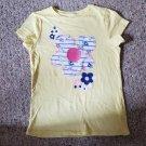 JUMPING BEANS Yellow Daisy Print Short Sleeved Top Girls Size 7