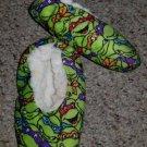 TEENAGE MUTANT NINJA TURTLES Sherpa Lined Slippers Toddler Size 7-8