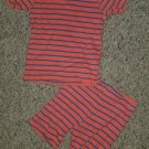 CARTER'S Striped Cotton Shortie Pajamas Boys Size 2T