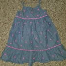 THE CHILDREN'S PLACE Floral Embroidered Denim Sundress Girls Size 4T