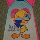 LOONY TUNES Short Sleeved TWEETY Nightgown XS Girls Size 5-6