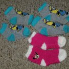 3 pair of Toddler Socks MINNIE MOUSE and MINIONS Fits 2T – 4T