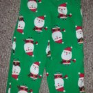 CARTER'S Green SANTA Fleece Sleep Pants Size 4T