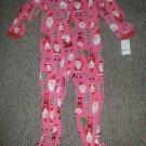 NWT Pink Santa Fleece Blanket Sleeper Girls Size 4T CARTER'S