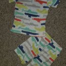 CARTER'S Submarine Print Shortie Pajamas Boys Size 2T