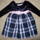 Black Velvet and Plaid Dress YOUNGLAND 18 months