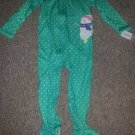 NWT Green Polka Dot Snowman One Piece CARTER'S Pajamas Girls Size 4T