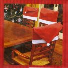 SANTA HAT CHRISTMAS CHAIR COVERS/SET of 4