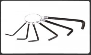ALLEN KEY WRENCH SET WITH RING