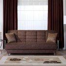 Almira  Convertible Modern Sofa Natural Brown Fabric