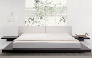 Kaze Low Profile Modern Platform Bed