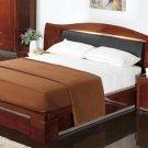 Aleysia Natural Cherry Wood Modern Platform Bed
