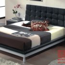 Florence Black Color Modern Platform Bed