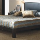 Celesta Modern Style Brown Leather Platform Bed