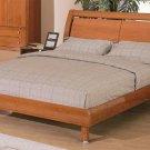 Edda Modern Platform bed in Cherry finish