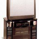 Agatha Black corner TV stand