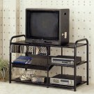 Agnese Black metal TV/VCR stand