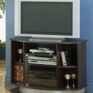 Andrea Cappuccino Glass Tv Stand
