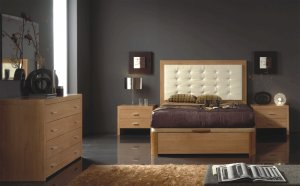 Sevilla Straight Lines Contemporary Bedroom Set