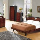 Marsala Modern Mahogany Finish Bedroom Set