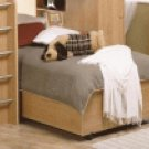Chestnut Single Modern Platform Bed