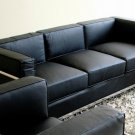 Le Corbusier Black Leather Sofa