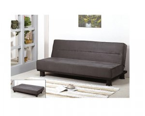 Smoke Modern Sleeper Sofa Bed In Grey   HL_S309
