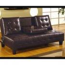 Nella Dark Brown  Leather  Sofa Bed    300153