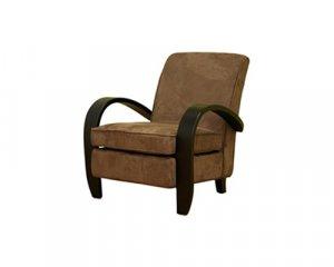 Brown Microfiber Club Arm Chair   CC75760