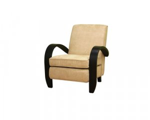 Cream Microfiber Club Arm Chair   CC75763