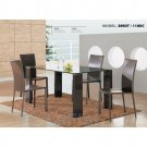 Dining Room -Rectangle Shape Contemporary Dinette With Glass Top