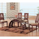 Whitney Modern Mahogany Finish Dining Set