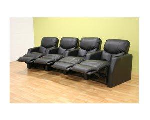 wsi- HT008-BK-4 // King Kong Black Manual Theatre Seat Set of 4