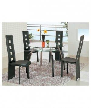 Bross Black Modern Dining Set