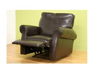 Talos Dark Brown Leather Club Chair