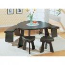 Triangular Dining Room Set  - Wenge + Dark Brown