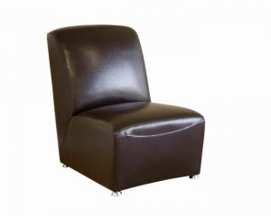 Dark Brown Leather Club Chair
