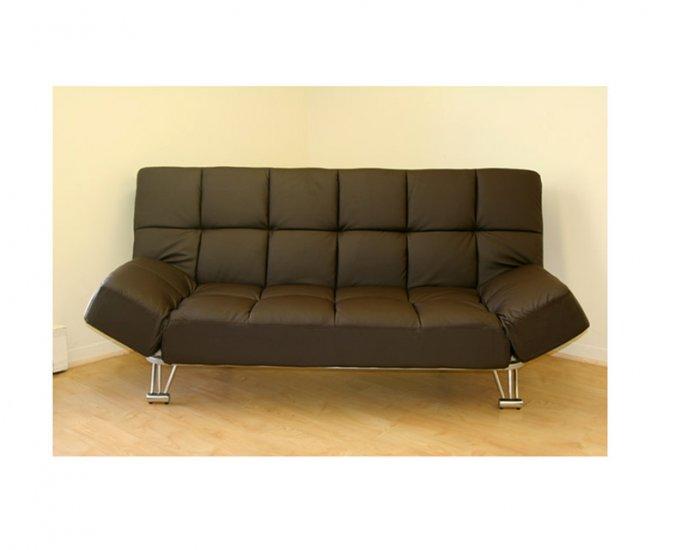 jm uptown 203 794 leatherette dark brown klick klack futon sofa bed uptown 203 794. Black Bedroom Furniture Sets. Home Design Ideas